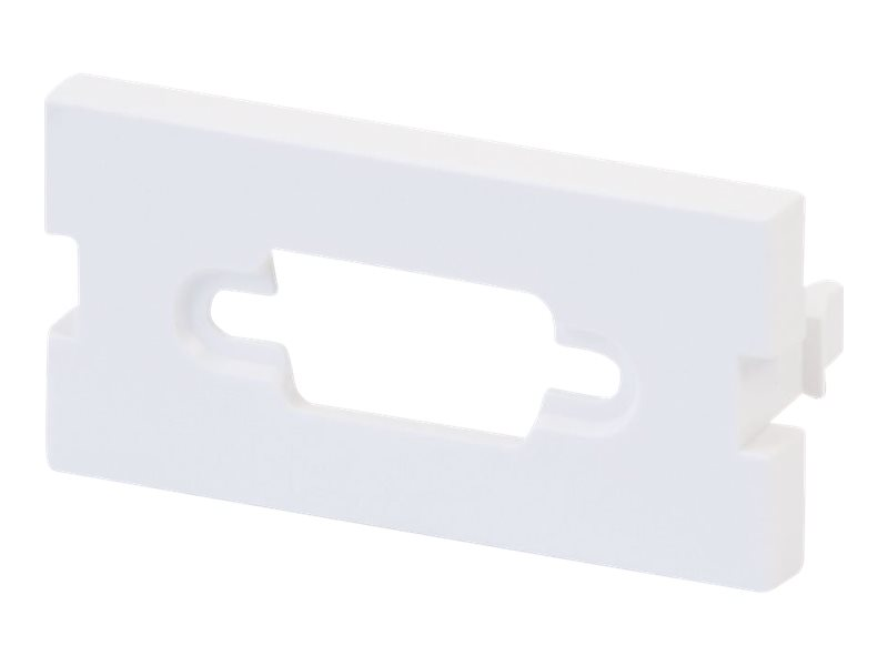 LINDY Snap-in Blank VGA Block - Modulares Faceplate-Snap-In - 1 Anschluss (Packung mit 4)