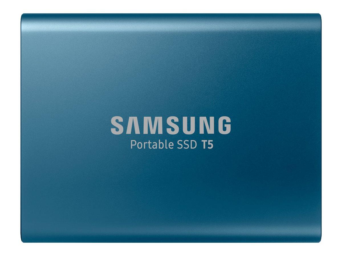 Samsung Portable SSD T5 MU-PA250 - Solid-State-Disk - verschlüsselt - 250 GB - extern (tragbar) - USB 3.1 Gen 2 (USB-C Steckverb
