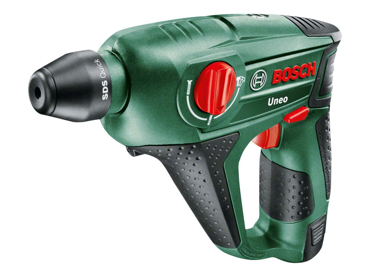 Bosch Uneo - Bohrhammer - kabellos - 2 Geschwindigkeiten - 2 Modi - SDS-Quick