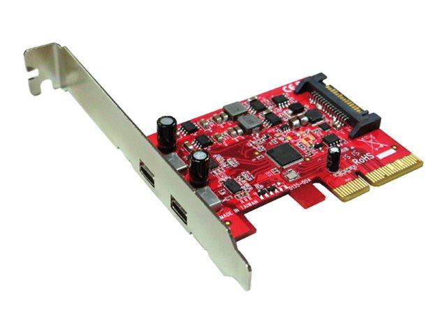 Roline - USB-Adapter - PCIe x4 Low-Profile - USB-C x 2