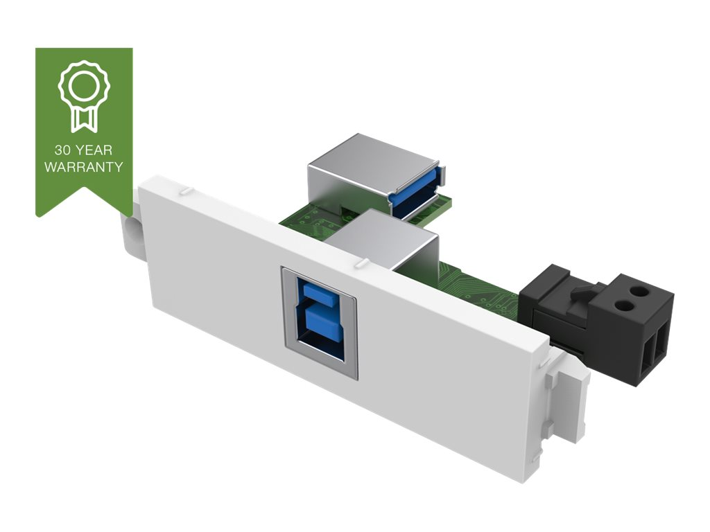 VISION TechConnect 3 USB-b module with active booster circuit - Modulares Faceplate-Snap-In - USB-Typ B