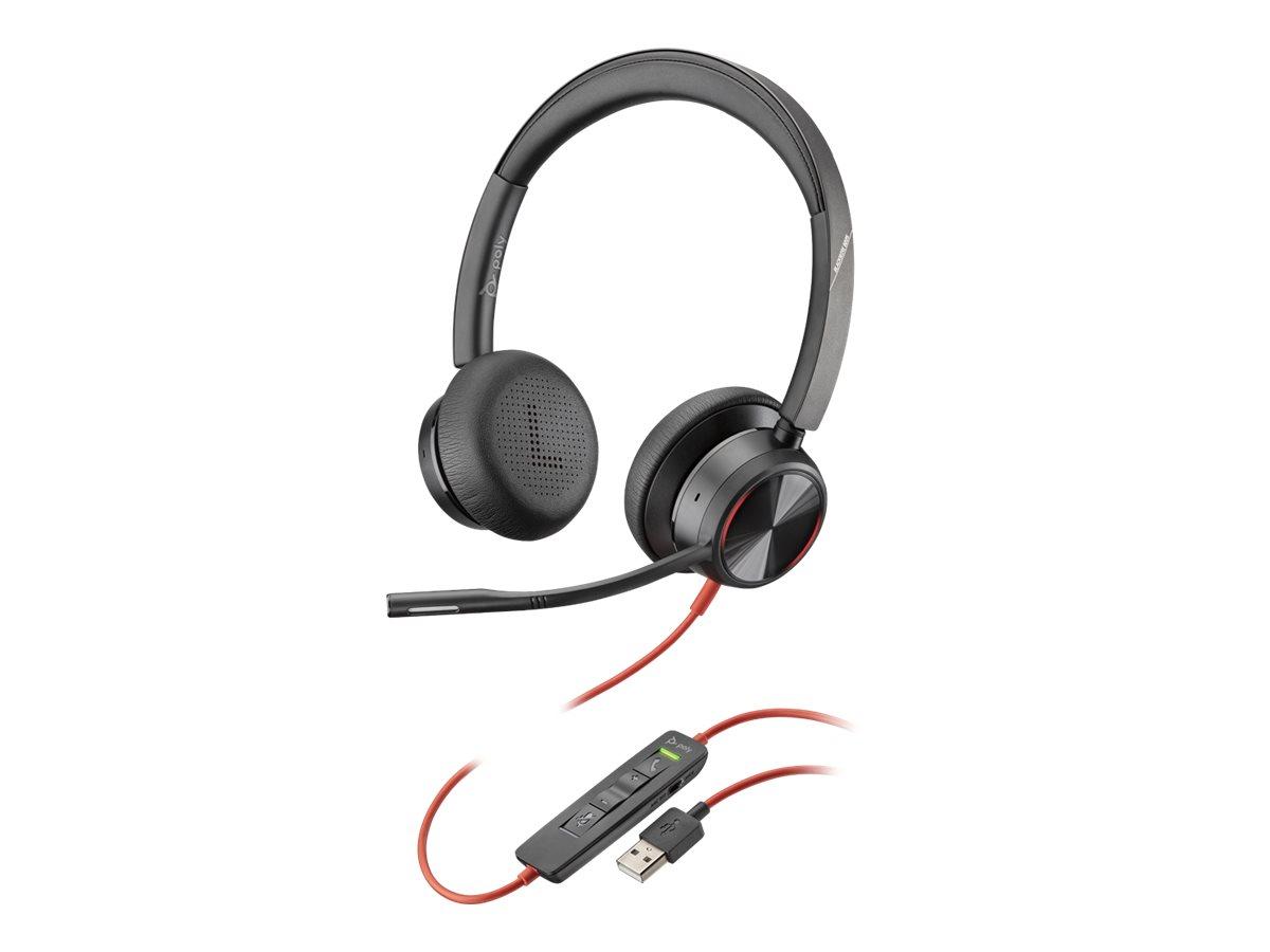 Poly - Plantronics Blackwire 8225 - Headset - On-Ear - kabelgebunden - aktive Rauschunterdrückung