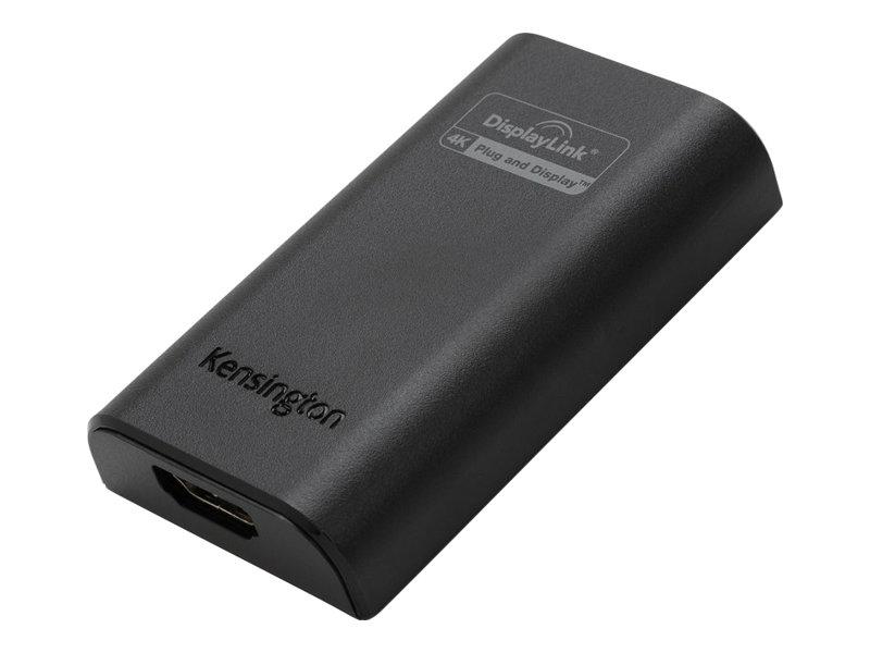 Kensington VU4000 4K Video Adapter - Externer Videoadapter - USB 3.0 - HDMI - Schwarz