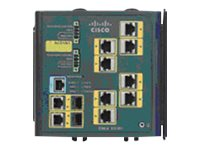 Cisco Industrial Ethernet 3000 Series - Switch - L2+ - verwaltet - 8 x 10/100 + 2 x Kombi-Gigabit-SFP - an DIN-Schiene montierba