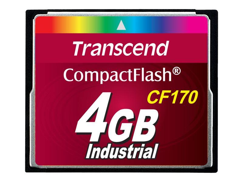 Transcend CF170 Industrial - Flash-Speicherkarte - 4 GB - 170x - CompactFlash