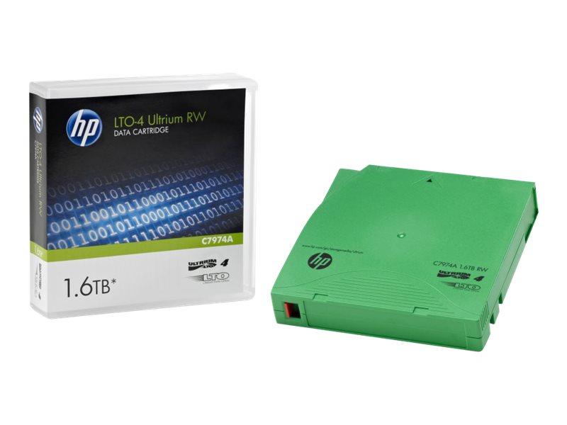 HPE RW Data Cartridge - LTO Ultrium 4 - 800 GB / 1.6 TB - Beschriftungsetiketten - grün - für HPE MSL4048; StorageWorks Enterpri