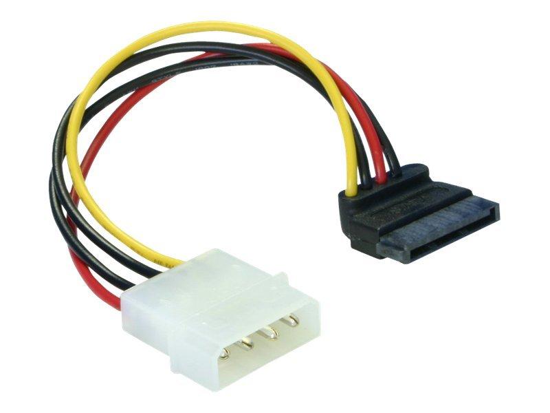 DeLOCK - Stromkabel - SATA-Stromstecker (M) bis interne Stromversorgung, 4-polig (M) - 10 cm - 90° Stecker