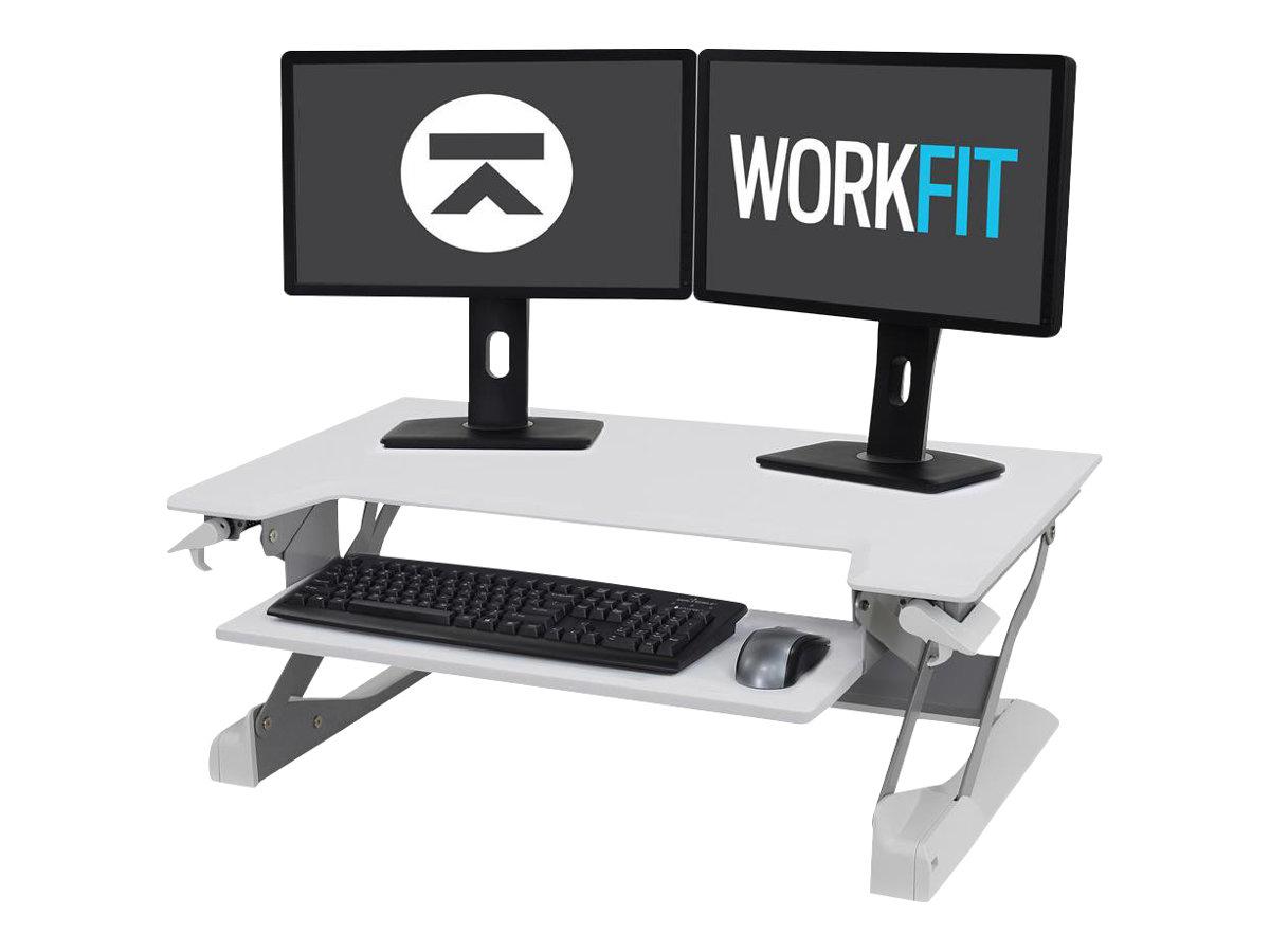 Ergotron WorkFit-TL - Stehender Tischwandler - weiss