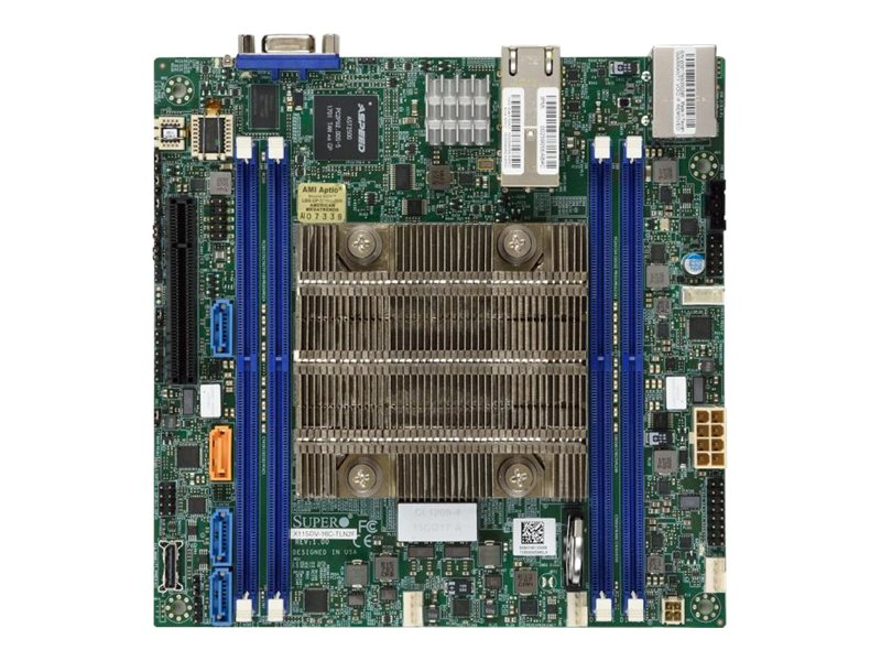 SUPERMICRO X11SDV-16C-TLN2F - Motherboard - Mini-ITX - Intel Xeon D-2183IT - USB 3.0 - 2 x 10 Gigabit LAN