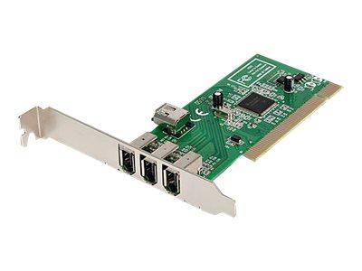 StarTech.com 4 Port 1394a FireWire PCI Schnittstellenkarte - 3x Firewire 400 extern 1x Firewire 400 intern - FireWire-Adapter -