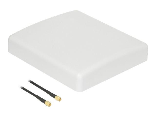 Delock - Antenne - Teller - 8 dBi - gerichtet - Wandmontage möglich, Stangenbefestigung