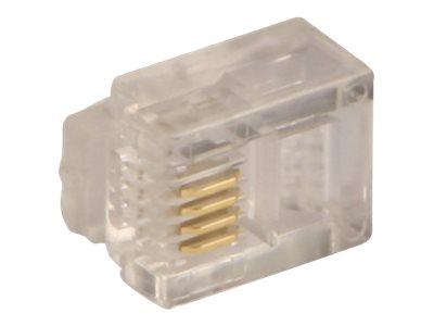 Lindy - Netzwerkanschluss - RJ-11 (M) (Packung mit 10)