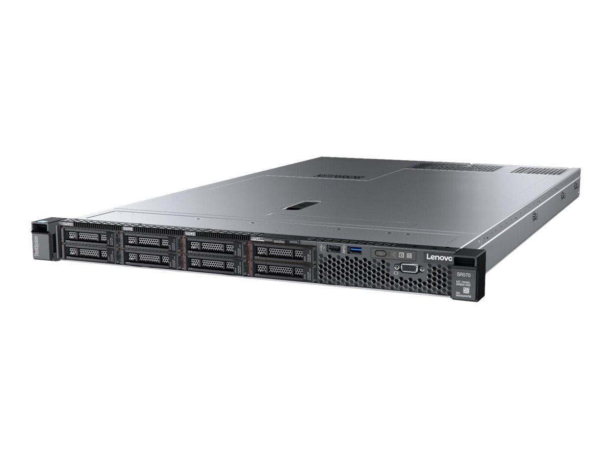 Lenovo ThinkSystem SR570 7Y03 - Server - Rack-Montage - 1U - zweiweg - 1 x Xeon Silver 4215 / 2.5 GHz