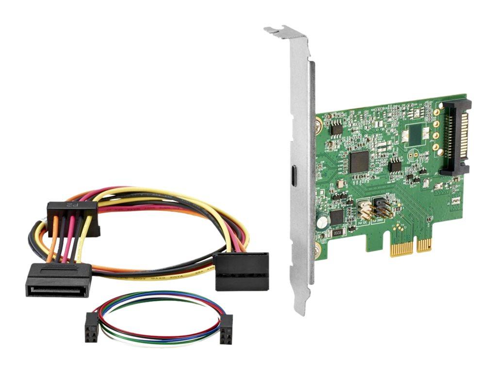 HP - USB-Adapter - PCIe - USB-C 3.1 Gen 2 - für EliteDesk 800 G2, 800 G4; EliteOne 800 G2; ProDesk 600 G2 (Micro Tower, SFF)