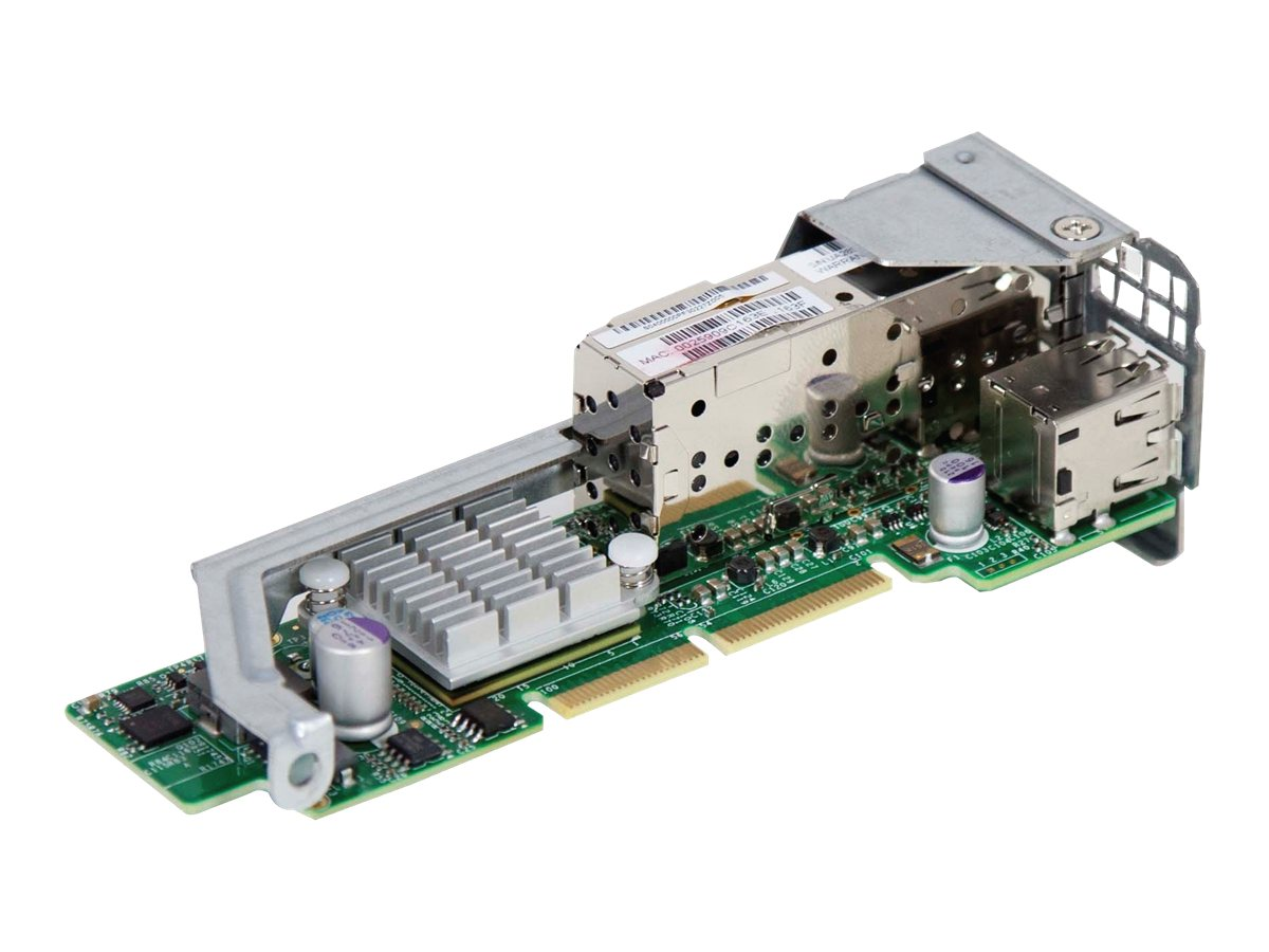 Supermicro Add-on Card AOC-CTG-i2S - Netzwerkadapter - PCIe 2.0 x8 Low-Profile - 10Gb Ethernet / FCoE SFP+ x 2 + USB 2.0 x 2 - f
