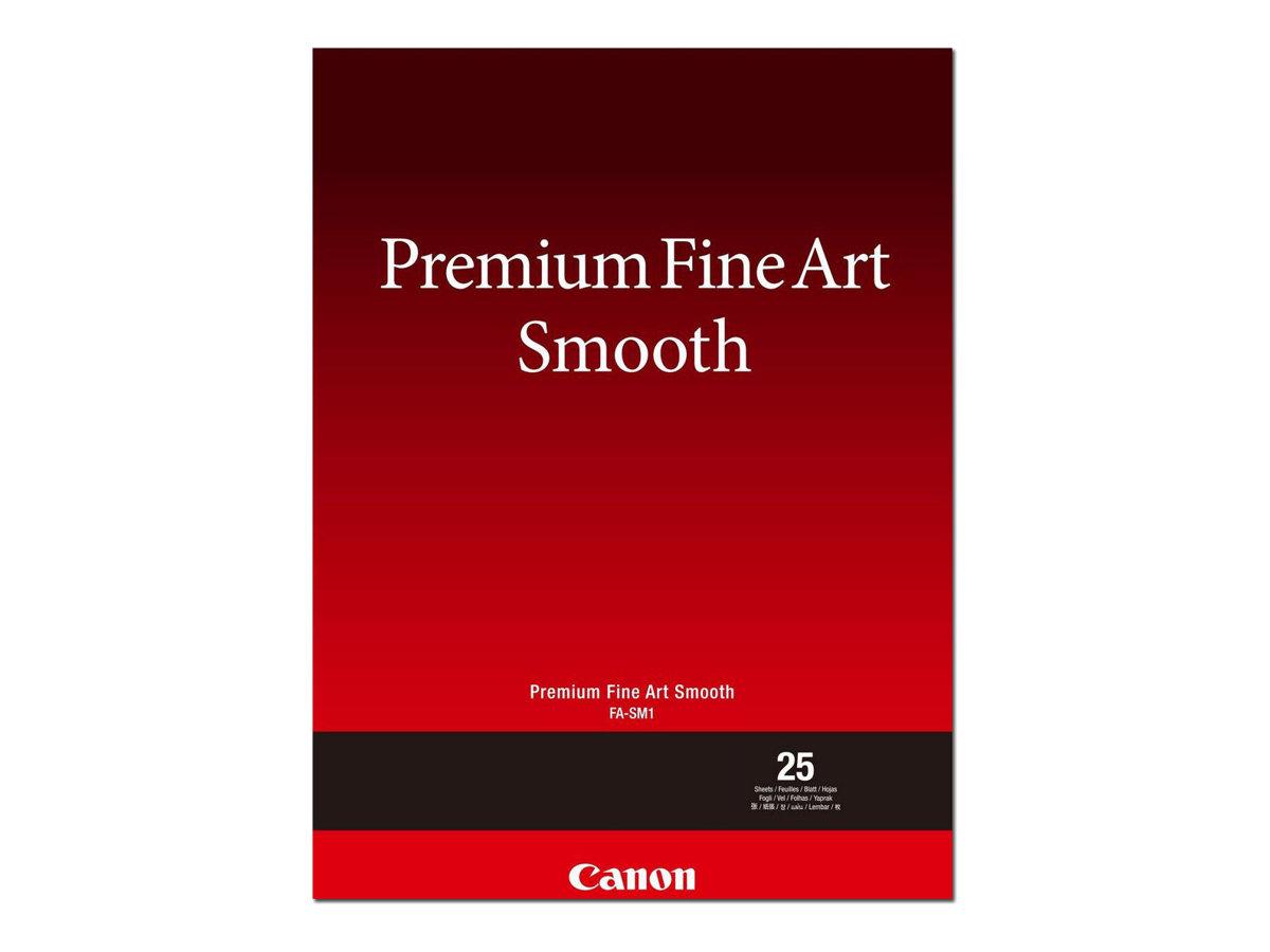 Canon Premium Fine Art Smooth FA-SM1 - Seidig - 16,5 mil - A3 (297 x 420 mm) - 310 g/m² - 25 Blatt Fotopapier