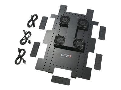 APC Roof Fan Tray - Rack-Lüftereinsatz - Wechselstrom 208/230 V - Schwarz - für NetShelter SX Enclosure with Sides