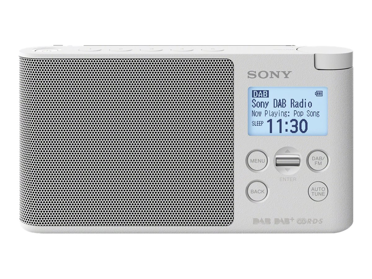 Sony XDR-S41D - Tragbares DAB-Radio - 0.65 Watt - weiss