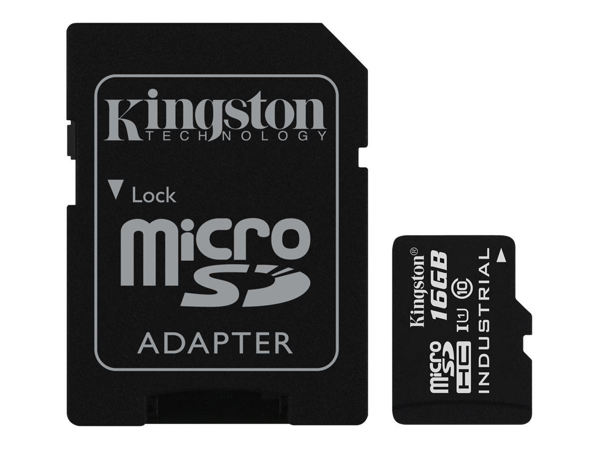Kingston - Flash-Speicherkarte (microSDHC/SD-Adapter inbegriffen) - 16 GB - UHS Class 1 / Class10 - microSDHC UHS-I