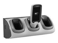 Zebra 3-Slot High Density Non-Locking Cradle - Handheld-Ladestation - Ausgangsanschlüsse: 3 - für Zebra MC18, MC18 Personal Shop