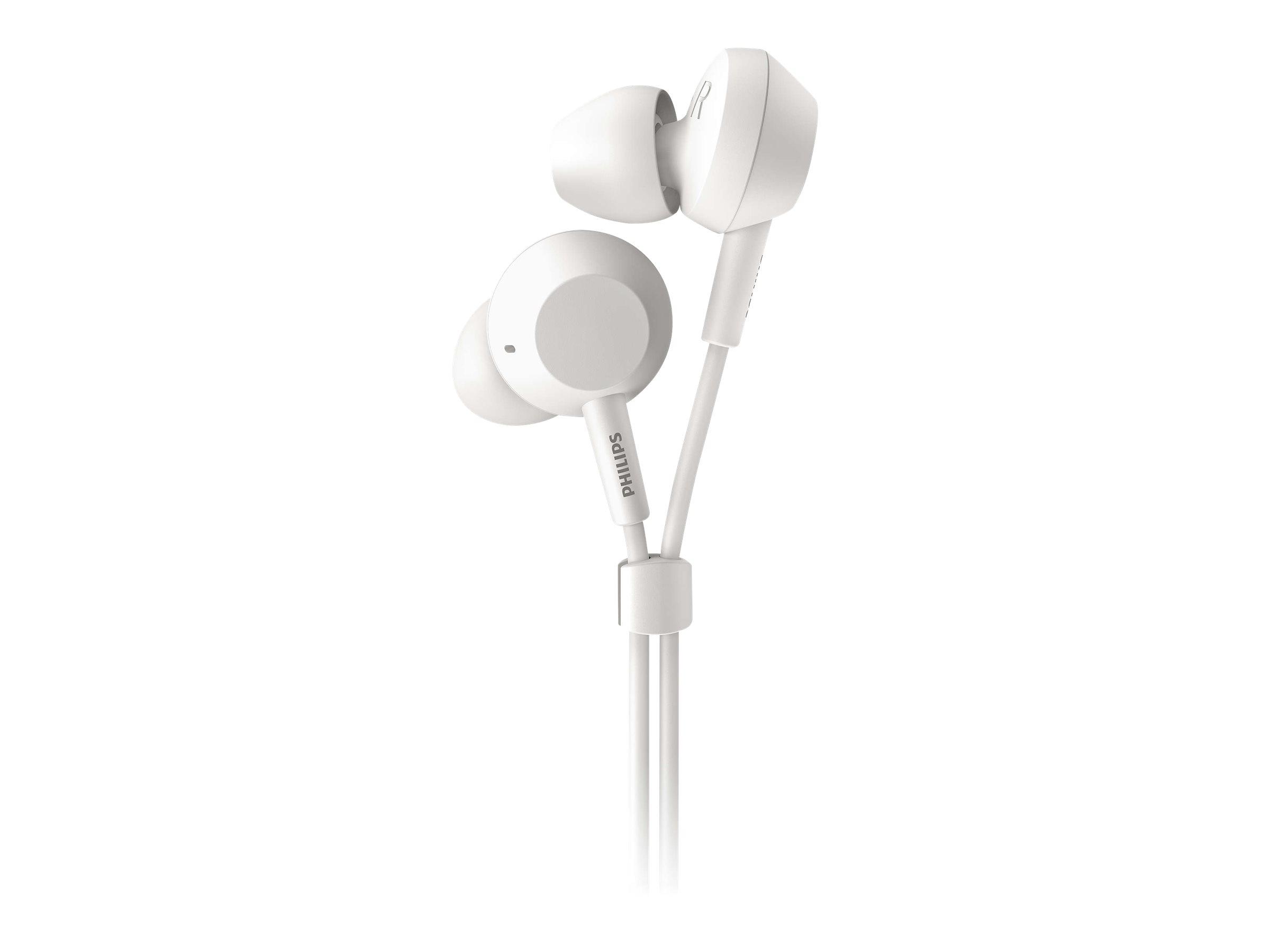 Philips TAE4105WT - Ohrhörer mit Mikrofon - im Ohr - kabelgebunden - 3,5 mm Stecker - weiss