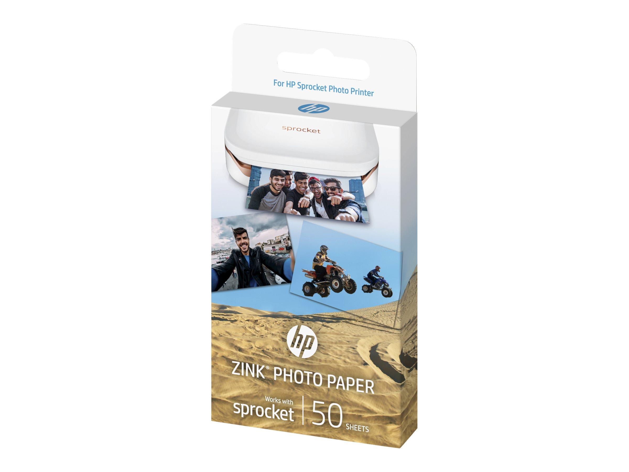 HP ZINK Sticky-Backed Photo Paper - Selbstklebend - glänzende Ausführung - 51 x 76 mm - 290 g/m² - 10 Blatt Fotopapier (Packung