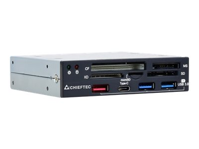Chieftec CRD-901H - Kartenleser - All-in-one - 8,9 cm (3,5 Zoll) (MS, SD, xD, microSD, CFast Card) - USB 3.1 Gen 1