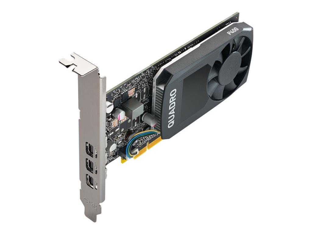 NVIDIA Quadro P400 - Grafikkarten - Quadro P400 - 2 GB GDDR5 - PCIe 3.0 x16 Low-Profile - 3 x Mini DisplayPort