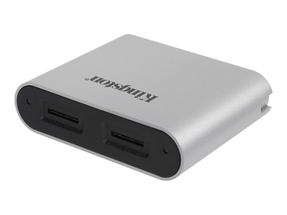 Kingston Workflow - Kartenleser (microSDHC UHS-I, microSDXC UHS-I, microSDHC UHS-II, microSDXC UHS-II) - USB-C 3.2 Gen 1