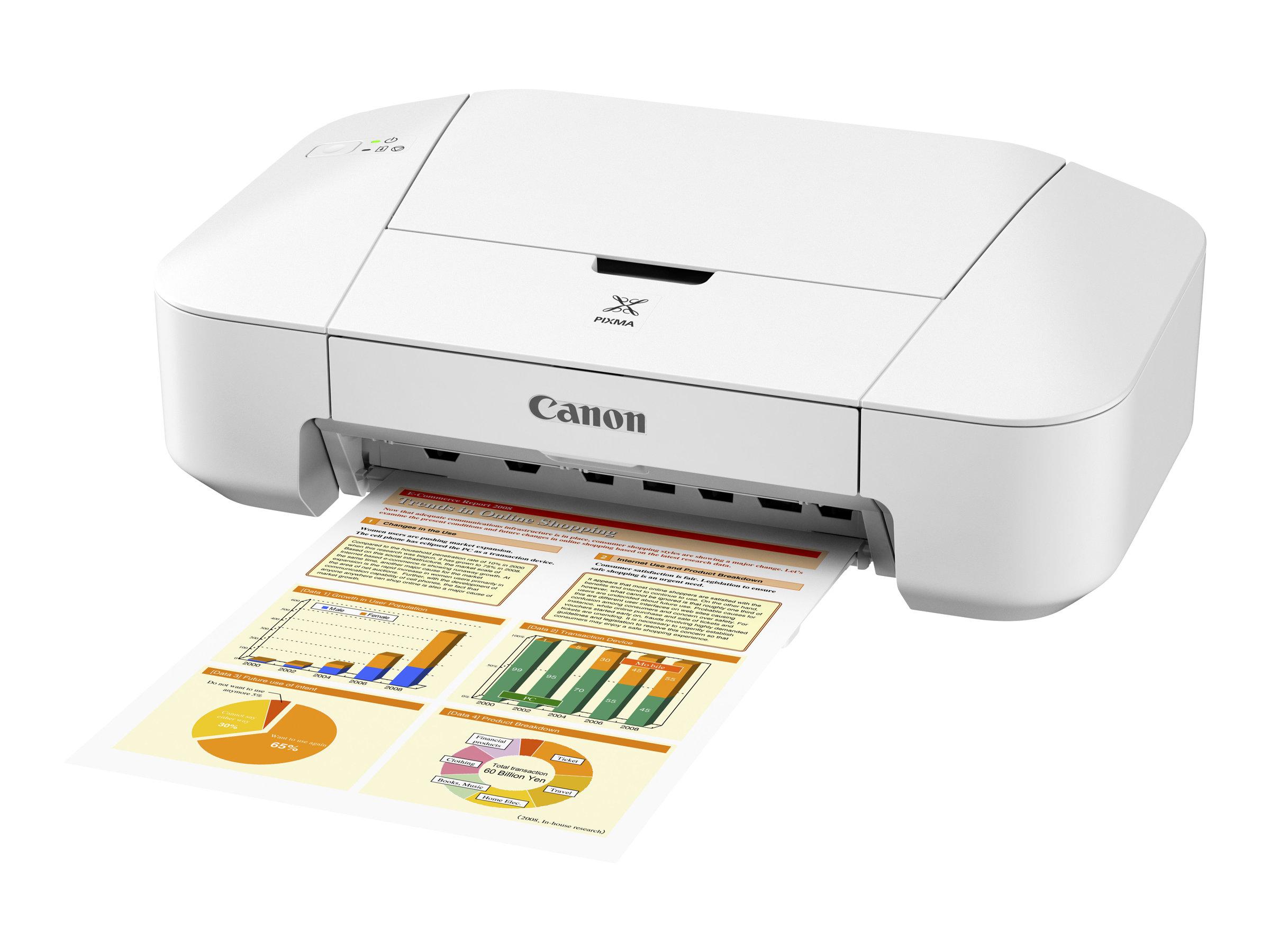 Canon PIXMA iP2850 - Drucker - Farbe - Tintenstrahl - A4/Legal - bis zu 8 ipm (einfarbig)/ bis zu 4 ipm (Farbe)