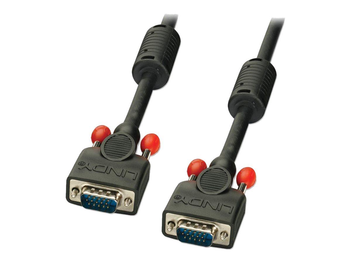 Lindy Premium Super Long Distance - VGA-Kabel - HD-15 (VGA) (M) bis HD-15 (VGA) (M) - 30 m - geformt, Daumenschrauben - Schwarz