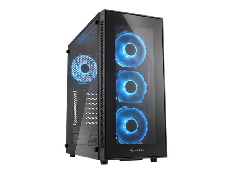 Sharkoon TG5 - Midi Tower - ATX - ohne Netzteil - Blau - USB/Audio