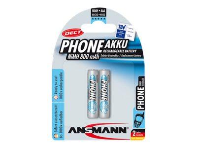 ANSMANN Energy Phone - Batterie 2 x AAA - NiMH - (wiederaufladbar) - 800 mAh