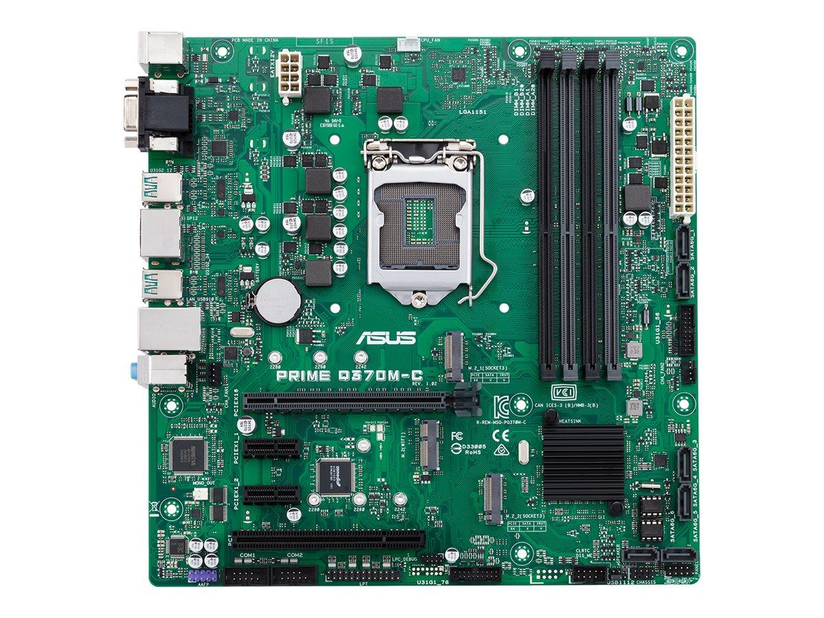 ASUS PRIME Q370M-C/CSM - Motherboard - micro ATX - LGA1151 Socket - Q370 - USB 3.1 Gen 1, USB 3.1 Gen 2