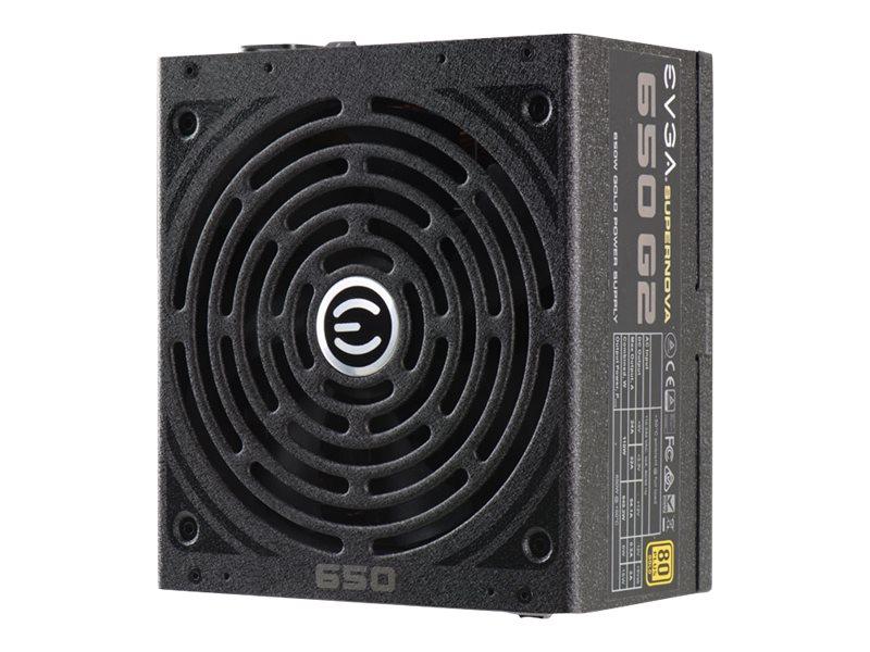 EVGA SuperNOVA 650 G2 - Stromversorgung (intern) - ATX - 80 PLUS Gold - Wechselstrom 100-240 V - 650 Watt