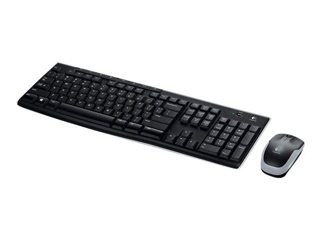 Logitech Wireless Combo MK270 - Tastatur-und-Maus-Set - kabellos - 2.4 GHz - Nordisch