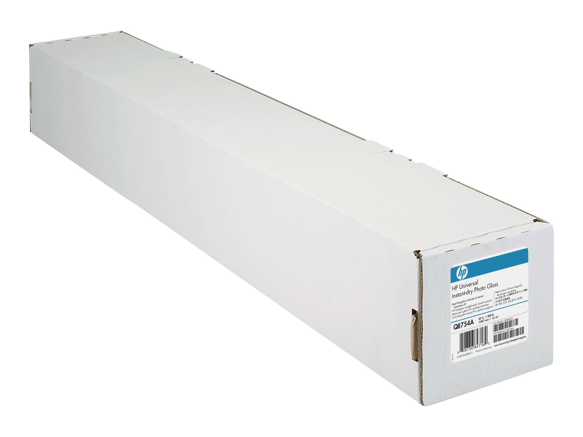 HP Universal Instant-Dry Photo Gloss - Glänzend - 7,4 mil - Rolle (106,7 cm x 61 m) - 190 g/m² - 1 Rolle(n) Fotopapier