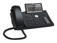 snom D375 - VoIP-Telefon - Bluetooth-Schnittstelle - SIP - 12 Leitungen - Schwarz, Blau