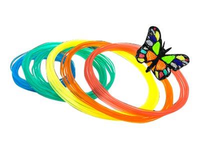 XYZprinting - 6er-Pack - Gelb, Rot, grün, orange, klar, Minzgrün - m 12 - PLA-Filament (3D)