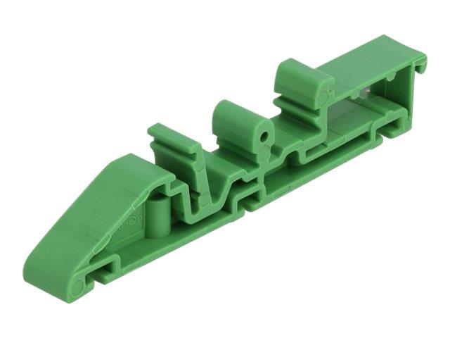 DeLOCK - DIN-Schienenklammer - grün (Packung mit 4)
