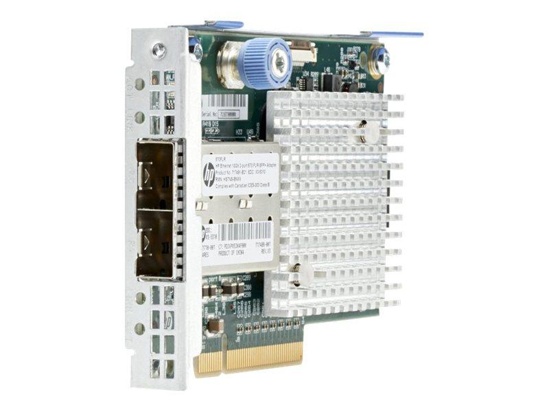 HPE 570FLR-SFP+ - Netzwerkadapter - PCIe 2.0 x8 - 10 Gigabit SFP+ x 2 - für ProLiant DL360p Gen8, DL380p Gen8, DL560 Gen8