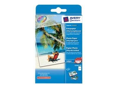 Avery Zweckform Superior Photo Paper C2497-50 - Hochglänzend - weiss - 100 x 150 mm - 230 g/m² - 50 Blatt Fotopapier