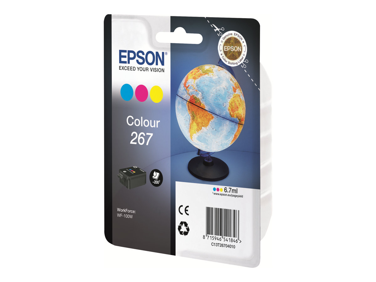 Epson 267 - 7 ml - Gelb, Cyan, Magenta - Original - Tintenpatrone - für WorkForce WF-100W