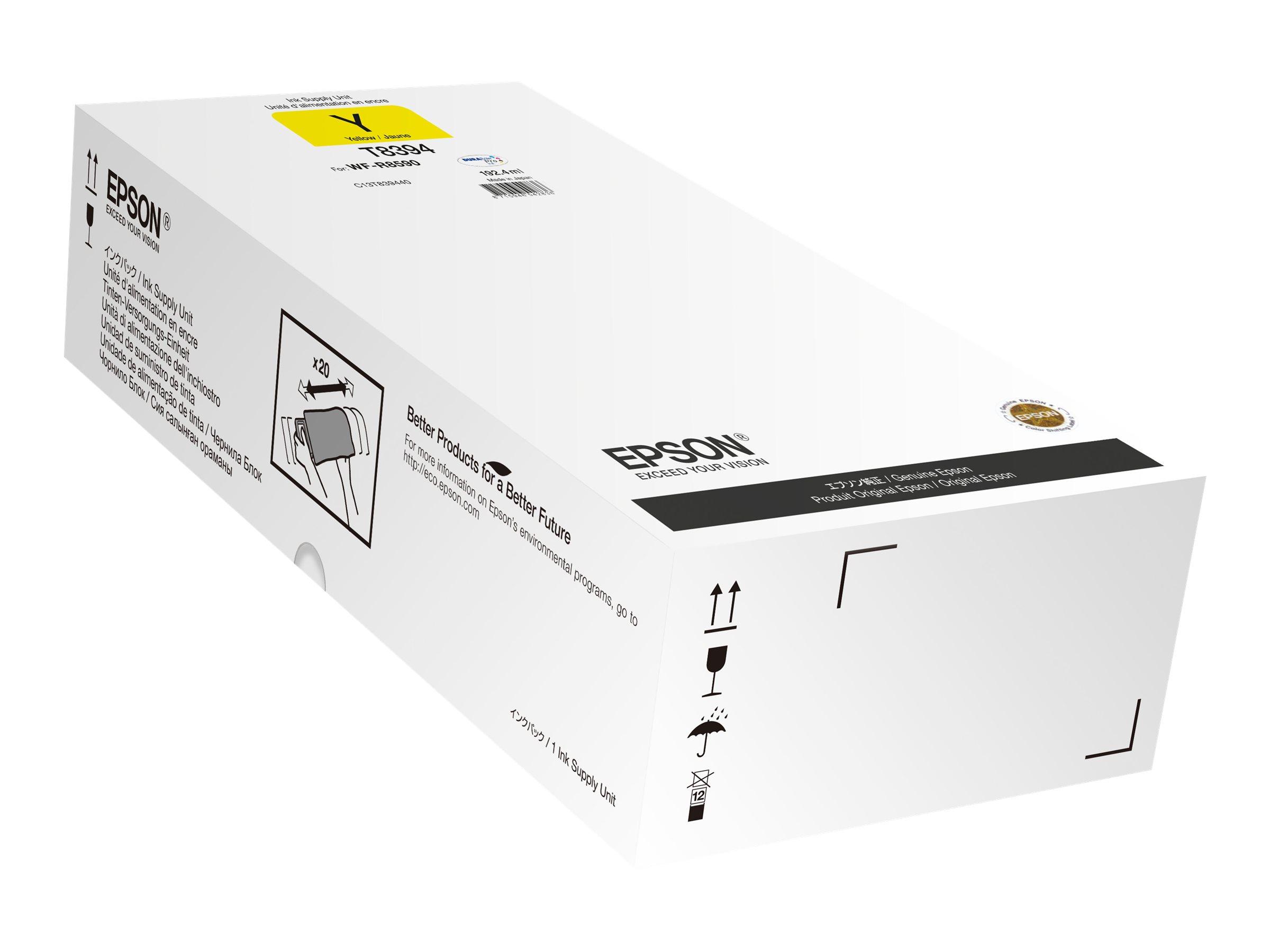 Epson T8394 - 192.4 ml - Gelb - Nachfülltinte - für WorkForce Pro R8590 D3TWFC, WF-R8590, WF-R8590 D3TWFC, WF-R8590DTWF