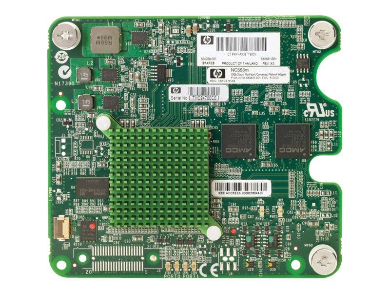 HPE NC553m - Netzwerkadapter - 10 GigE - 10GBase-KX4 - 2 Anschlüsse - für Integrity BL860c i4; ProLiant BL460c G7, BL490c G7, BL