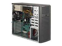 Supermicro SC732 i-R500B - Midi Tower - Erweitertes ATX 500 Watt (PS/2) - Schwarz - USB