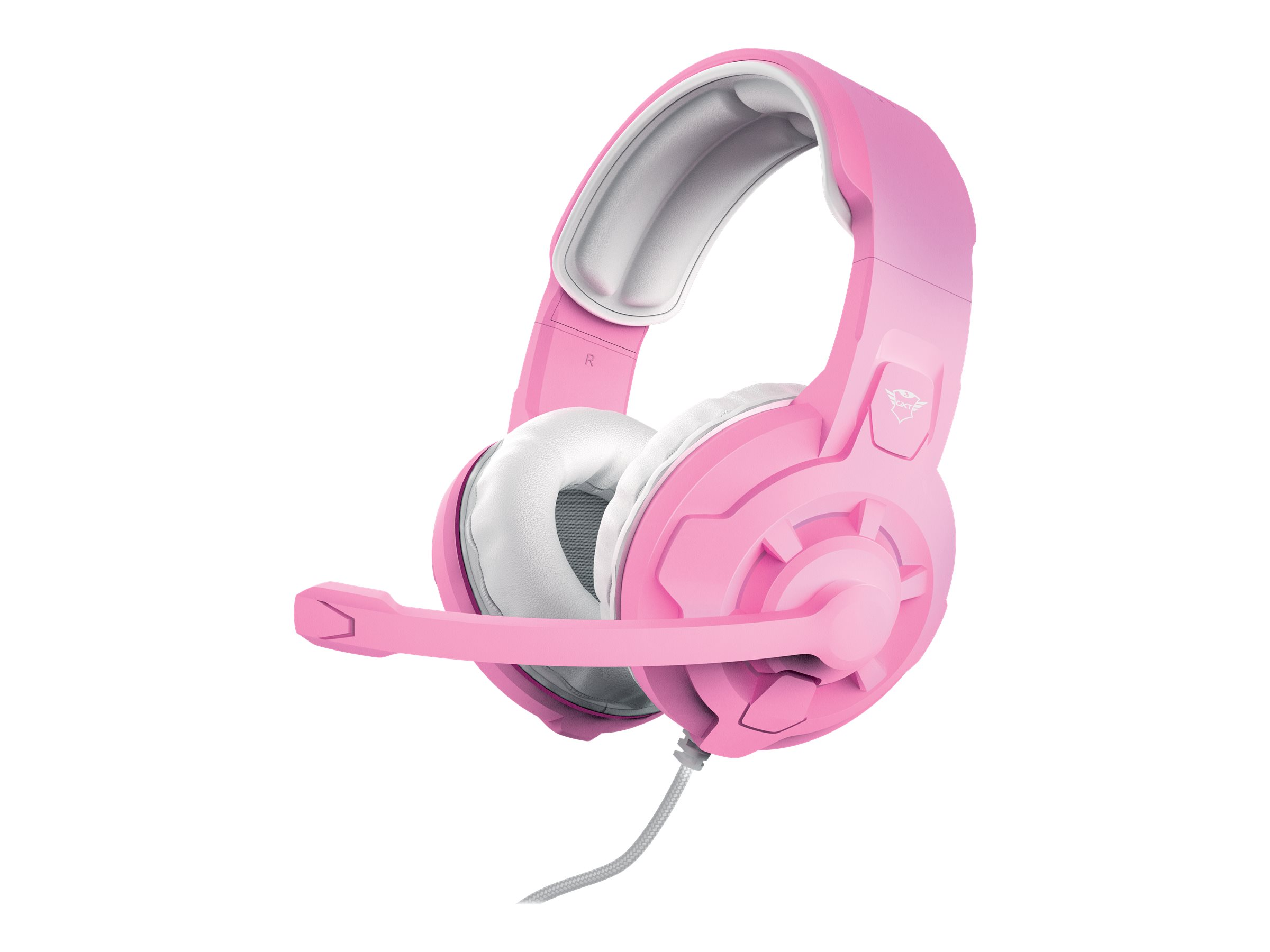 Trust Gaming GXT 411P Radius - Headset - ohrumschliessend - kabelgebunden - 3,5 mm Stecker - pink
