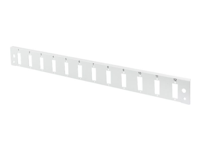DIGITUS Professional DN-96201-QL - Glasfaser-Spleisskonsole - Vorderseite - SC X 12 - Grau, RAL 7035 - 1U