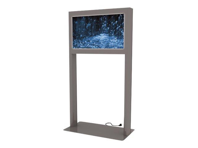 HAGOR vis-it landscape frame - Aufstellung für LCD-/Plasmafernseher - verriegelbar - Aluminium, Stahl - Metallic Graphite Gray -