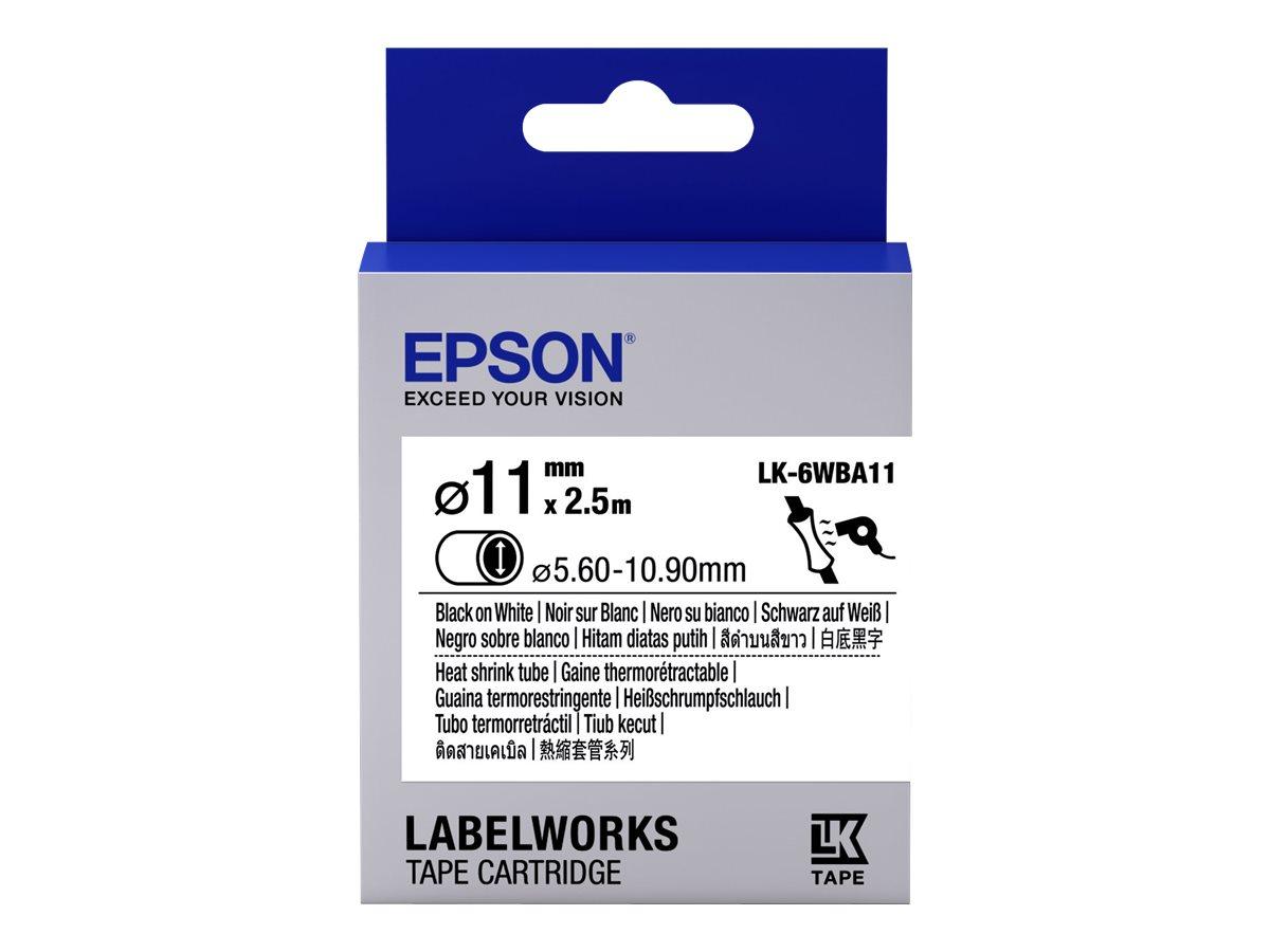 Epson LabelWorks LK-6WBA11 - Schwarz auf Weiss - Roll (1.1 cm x 2.5 m) 1 Rolle(n) Rohr - für LabelWorks LW-1000, LW-300, LW-400,